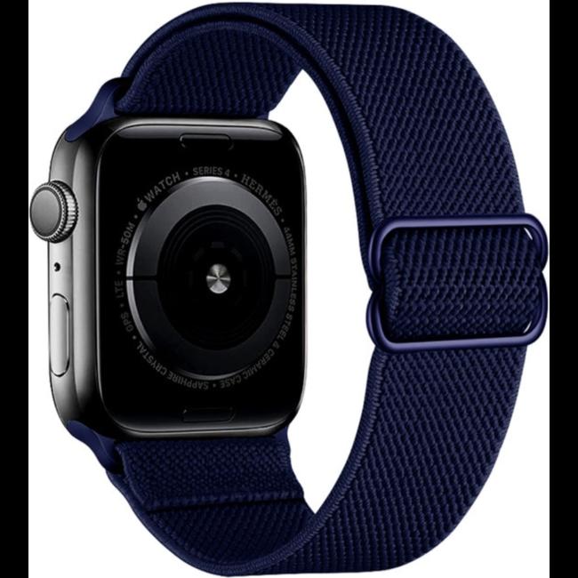 Apple watch nylon solo loop band - marineblauw