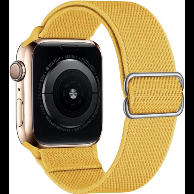 Apple watch nylon solo loop band - geel