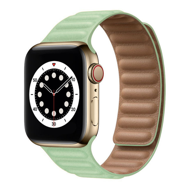 Apple watch PU leather solo band - teal tint