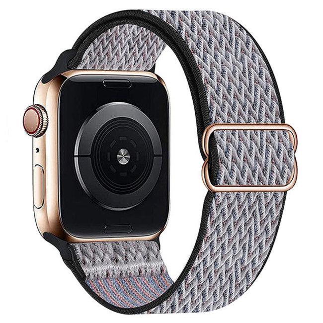 Apple watch nylon solo band - heartbeat blue