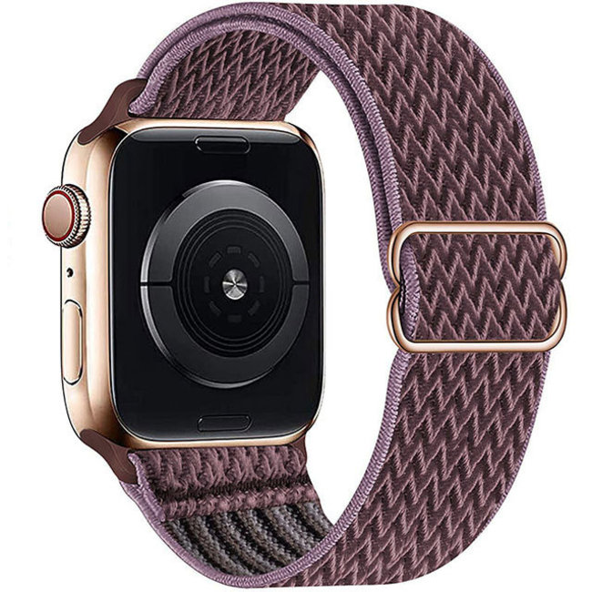 Apple watch nylon solo band - rokerig paars