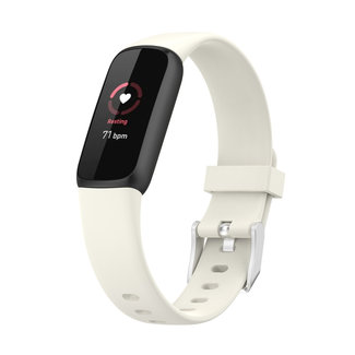 Merk 123watches Fitbit Luxe  sport band - antiekwit