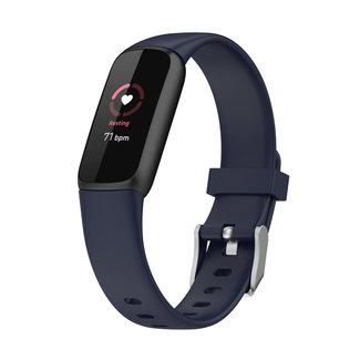 Merk 123watches Fitbit Luxe sport band - donkerblauw