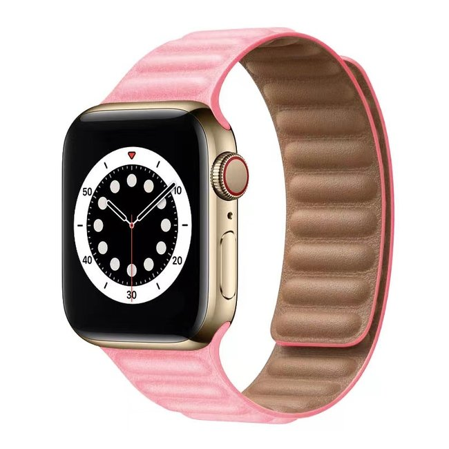 Apple watch PU leather solo band - pink