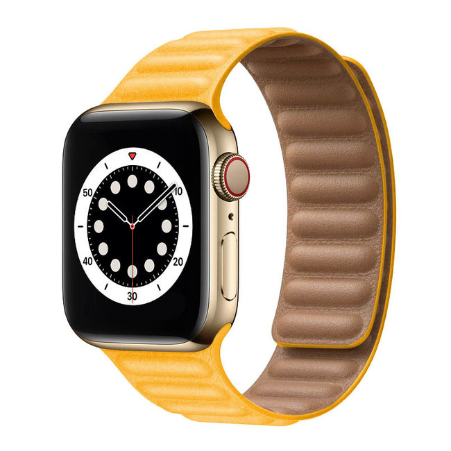 Apple watch PU leather solo band - yellow