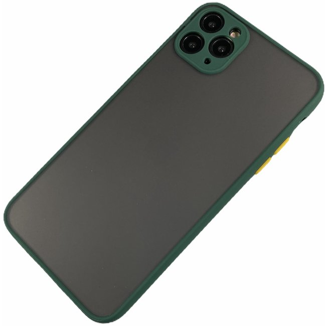 Apple iPhone 11 Pro Max - Silicone transparante hard hoesje Daan donker groen