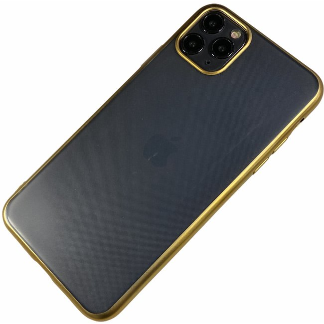 Apple iPhone X / Xs - Silicone transparant mat hard hoesje Finn goud
