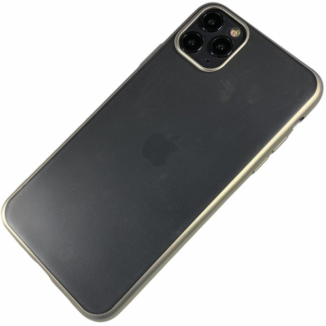 Apple iPhone 11 - Silicone transparant mat hard hoesje Finn zilver