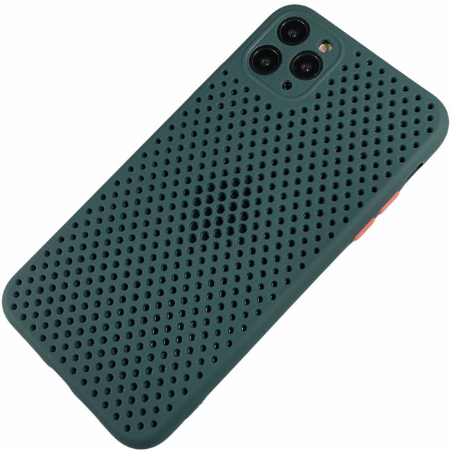 Apple iPhone 11 Pro Max - Silicone hoesje Liam donker groen