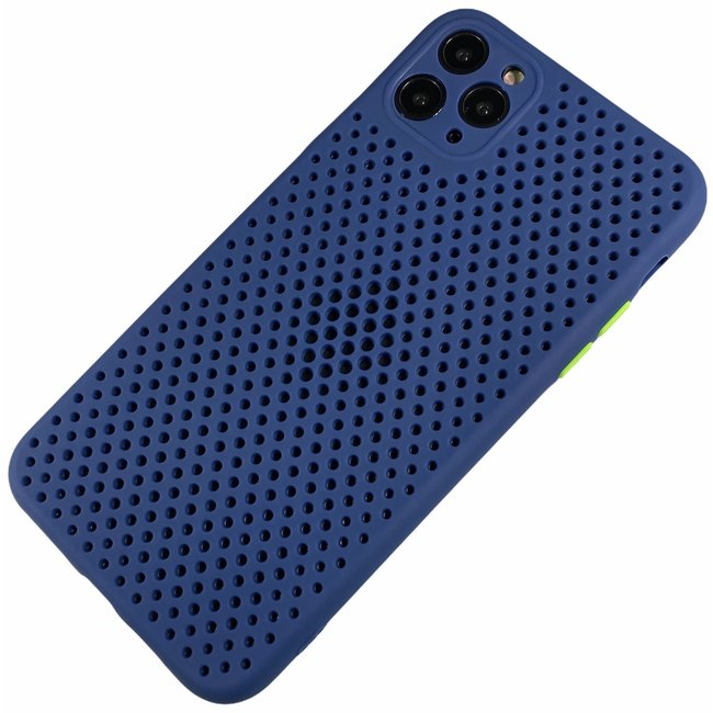 Apple iPhone 11 - Silicone hoesje Liam blauw