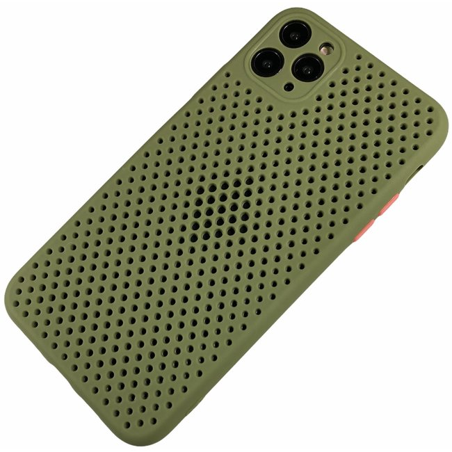 Apple iPhone 11 - Silicone hoesje Liam groen