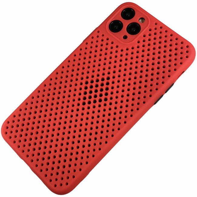 Apple iPhone 11 Pro Max - Silicone hoesje Liam rood