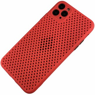 Merk 123watches Apple iPhone 7 / 8 / SE - Silicone hoesje Liam rood