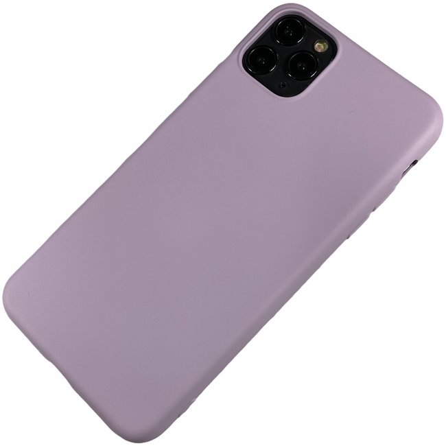 Apple iPhone 11 Pro Max - Silicone hoesje Renee paars