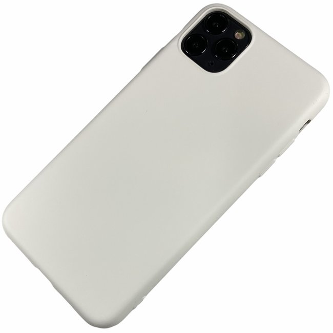 Apple iPhone 11 Pro Max - Silicone hoesje Renee wit