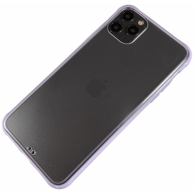Apple iPhone 11 Pro Max - Silicone transparant zacht hoesje Sam paars