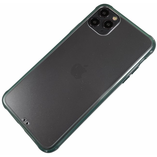 Apple iPhone Xr - Silicone transparant zacht hoesje Sam groen