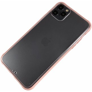 Merk 123watches Apple iPhone 11 - Silicone transparant zacht hoesje Sam roze