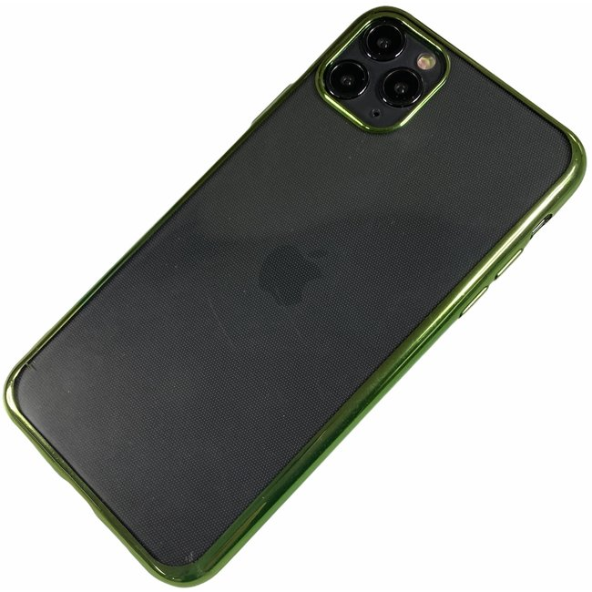Apple iPhone 11 Pro Max - Silicone transparante soft hoesje Sophie groen