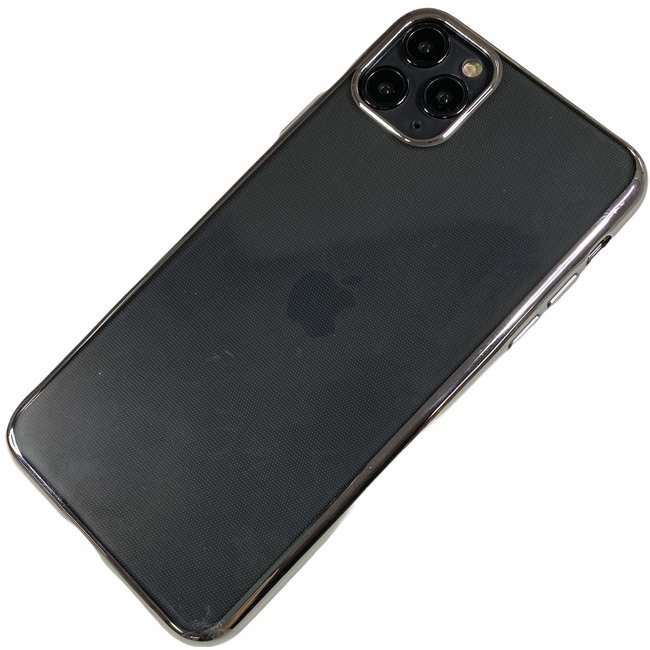 Apple iPhone 11 Pro - Silicone transparante soft hoesje Sophie zilver