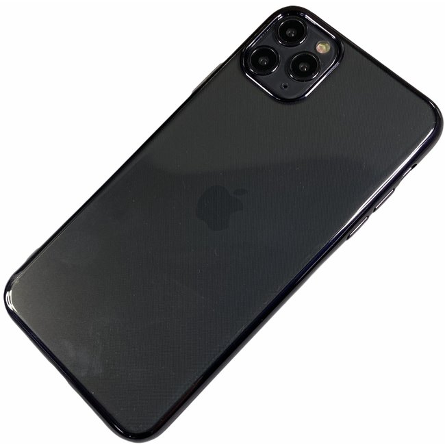 Apple iPhone Xr - Silicone transparante soft hoesje Sophie zwart