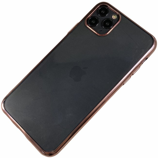 Apple iPhone 11 Pro - Silicone transparante soft hoesje Sophie rose goud