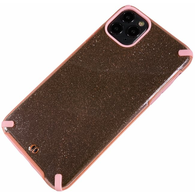 Apple iPhone 11 Pro Max - Silicone transparant hard hoesje Tess roze