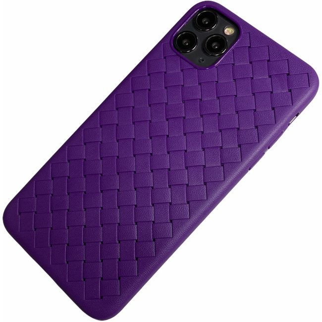 Apple iPhone 11 Pro Max - Silicone dun hoesje Jaxx wave paars