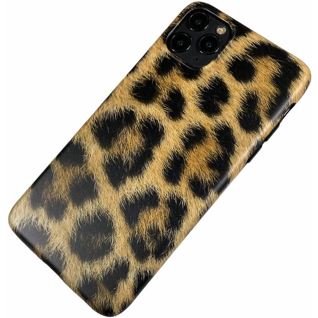 Apple iPhone 11 Pro Max - Silicone dun hoesje Nora luipaard groot