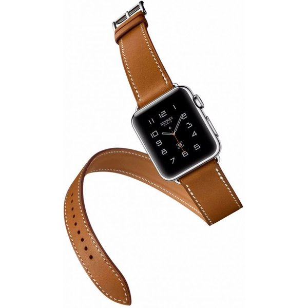 123Watches Apple watch leather long loop band - brown