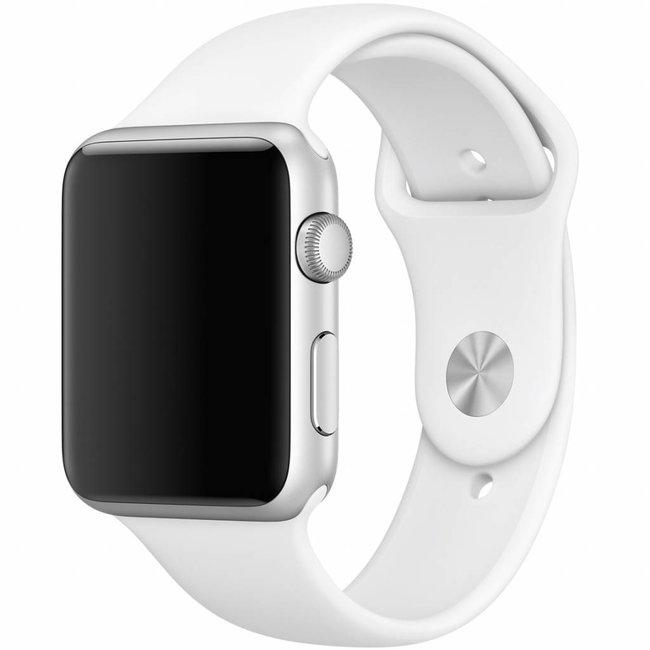 Merk 123watches Apple watch sport band - wit