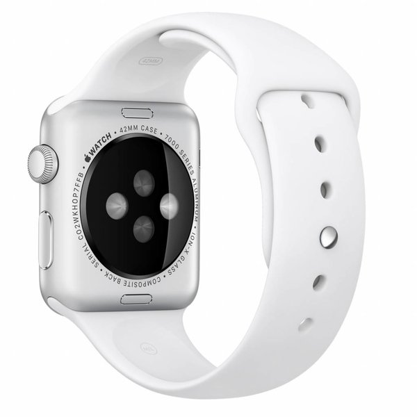 123Watches.nl Apple watch sport band - white
