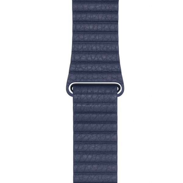 123Watches Apple watch PU leather ribbed band - blue