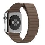 123Watches.nl Apple Watch bande de cuir côtelé - marron