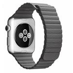 123Watches Apple watch PU leren ribbel band - grijs