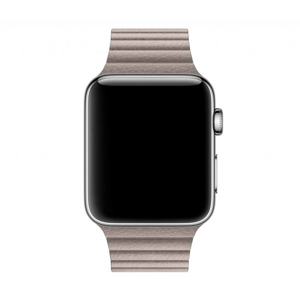 123Watches Apple watch PU leren ribbel band - khaki