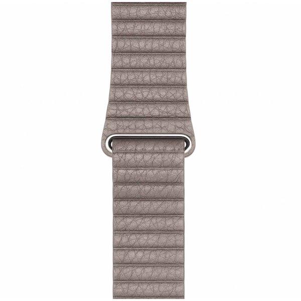 123Watches Apple watch PU leather ribbed band - khaki