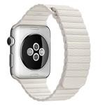 123Watches Apple Watch bande de cuir côtelé - blanc