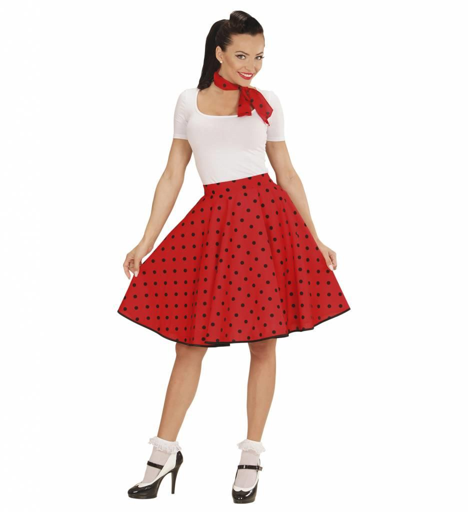 50'S Rock And Roll Rok Met Nekband Rood