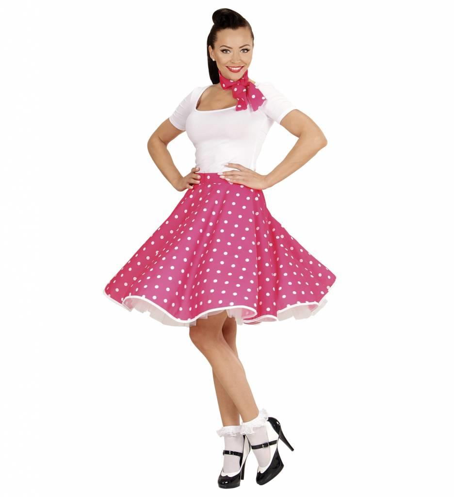 50'S Rock And Roll Rok Met Nekband Roze