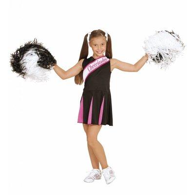 Cheerleader Pakje  Zwart/Roze Meisje