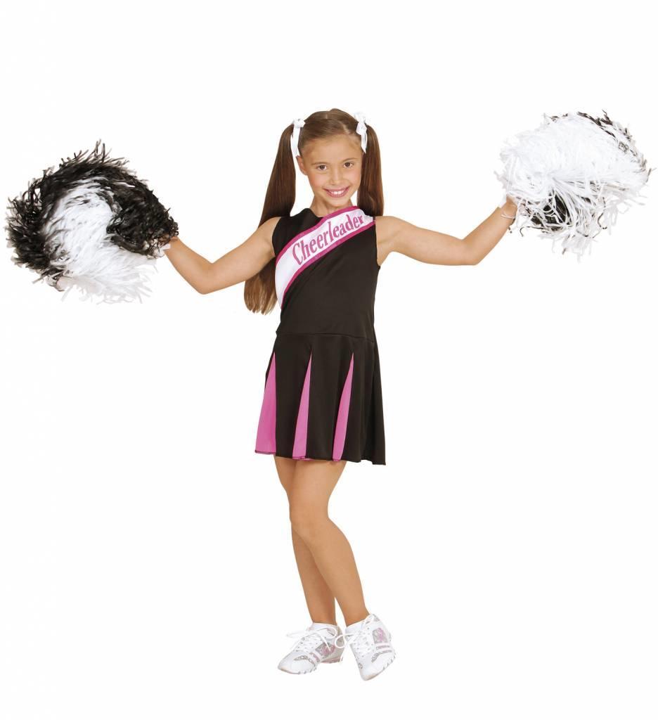 Cheerleader Zwart/Roze Meisje
