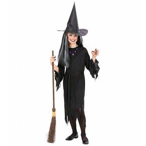 Heksenjurk kind zwart met heksenhoed