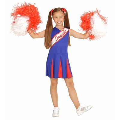 Cheerleader Pakje Blauw/Rood Meisje
