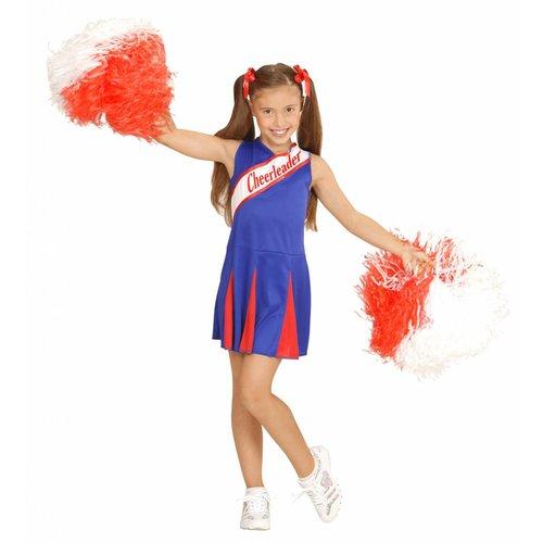 Widmann Cheerleader Pakje Blauw/Rood Meisje