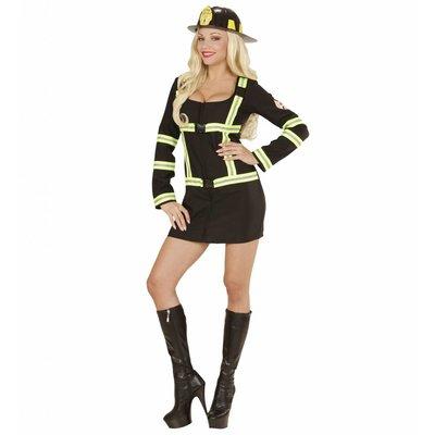 Brandweervrouw Zwart