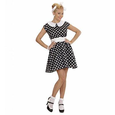 Jurk 50'S Met Petticoat Zwart