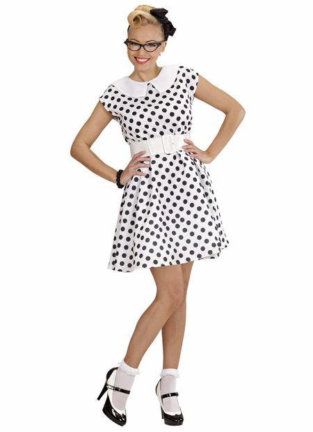 Jurk 50'S Met Petticoat, Wit