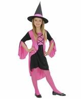 Heksen Kostuum Roze Kind