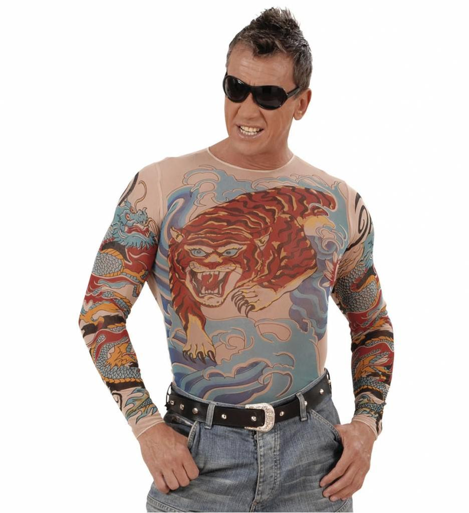 Tattoo Shirt Tijger En Draak Man